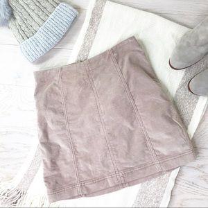 FREE PEOPLE Corduroy Back Zip Mini Skirt S…
